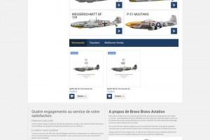 Site e-commerce bilingue.