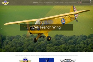 Site internet bilingue de l'association CAF French Wing.