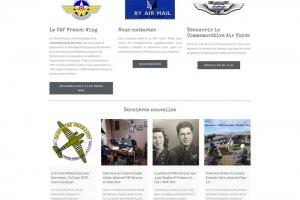 Site internet bilingue de l'association CAF French Wing.
