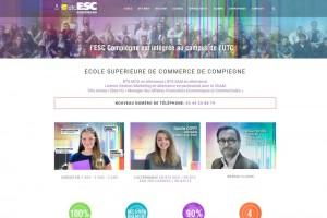 Site internet de l'Ecole Supérieure de Commerce de Compiègne.