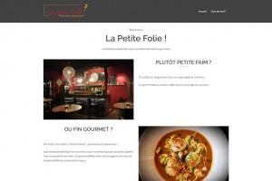Site internet du restaurant La Petite Folie (Nord).