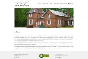 Site internet bilingue de la Maison Forestière de la Cailleuse (Nord).