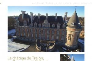 Site internet bilingue du Château de Trélon (Nord).