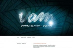 Site internet de l'agence de communication VAM Communication.